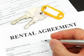sign rental agreement
